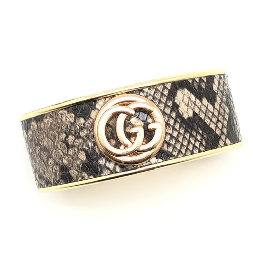 Designer Snakeskin Bangle