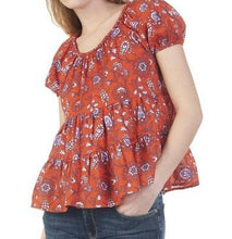 Red Voile Baby Doll Top