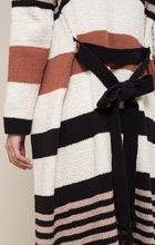 Striped Belted Duster