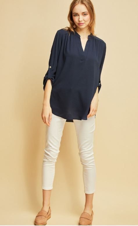 The Madison Top in Navy