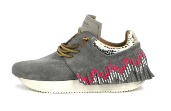 *Pre-order* Esseutesse Grey Suede with Tribal Fringe