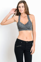 Lace Racerback Bralette - Midnight Grey