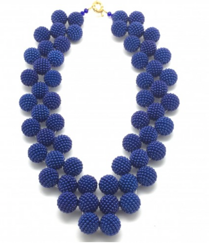 Shiver + Duke Gumball Woven Necklace - Royal Blue