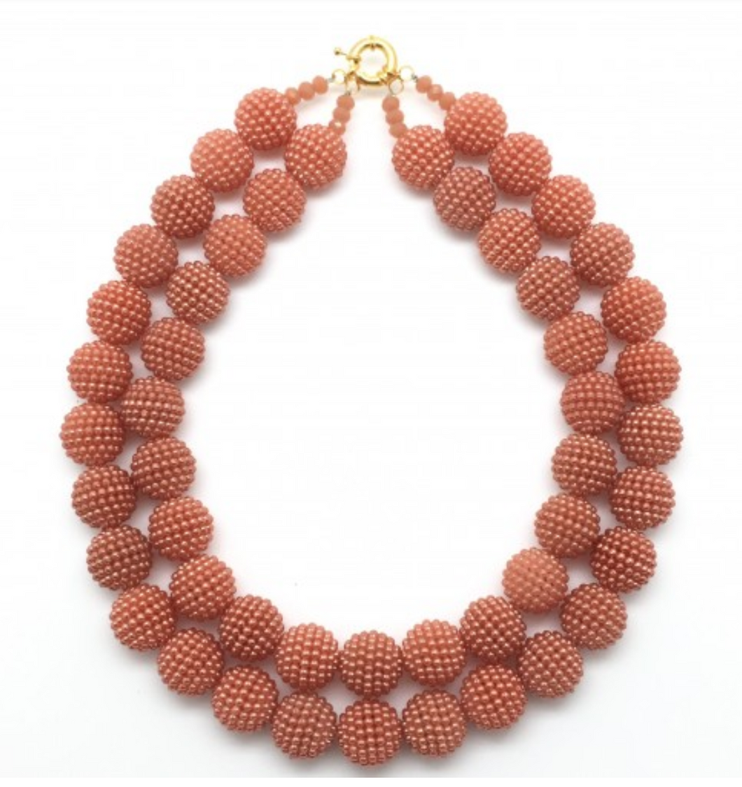 Shiver + Duke Gumball Necklace - Blush