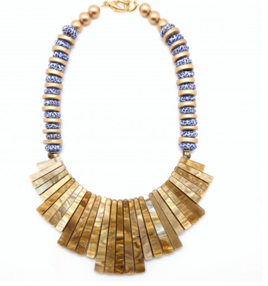 Ginger Bib Necklace - Blue