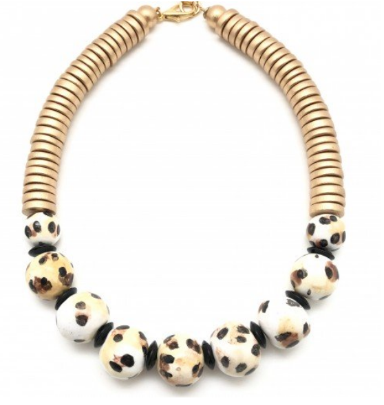 cape town necklace - leopard
