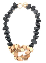 Abstract Black and Gold Necklace