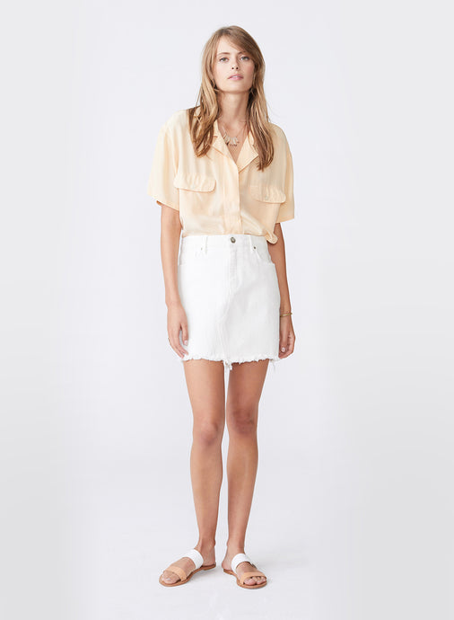 Nico Antique White Mini Skirt