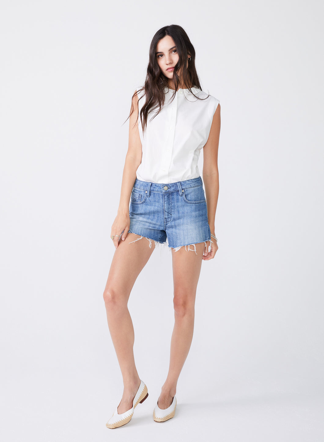 Laine Boyfriend Shorts in Chevy