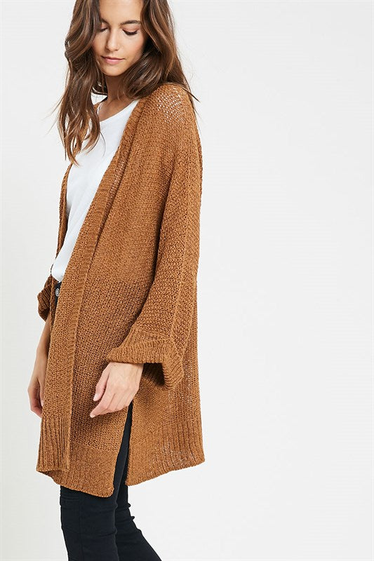 Cozy Open-Front Cardigan