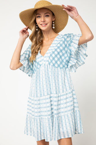 Natalie v-neck babydoll dress