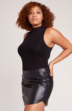 Conrad Leather Mini Skirt - Black