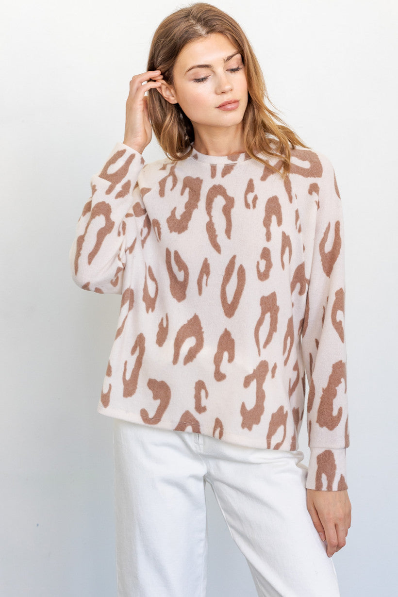Samantha Loves Animal Print Lounge Top