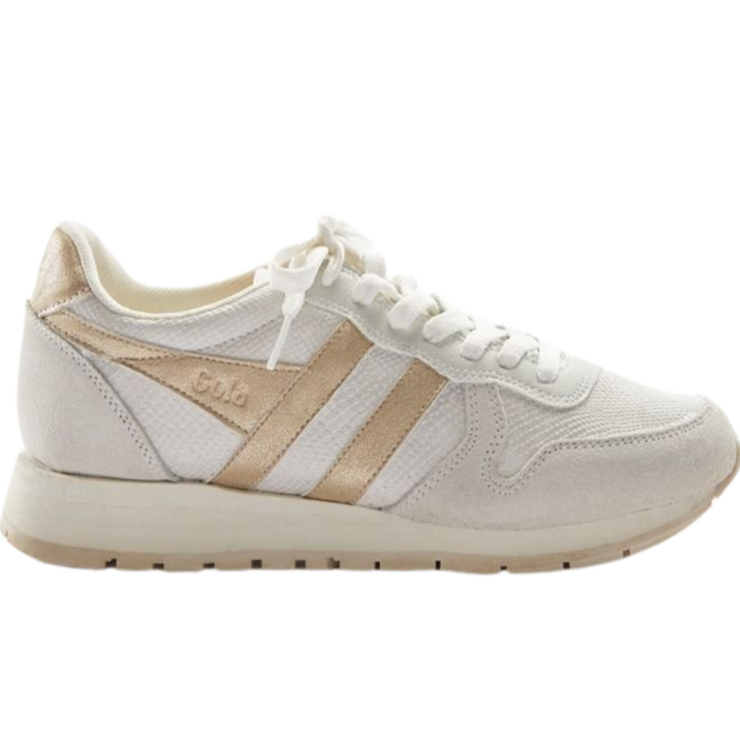 Gola Daytona Lizard Sneakers - Gold/Off White