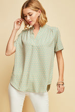 Meredith V-neck Tunic - Green