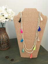 Fringe Necklace (Ivory, Rose, Aqua, Turquoise or Antique Mix)