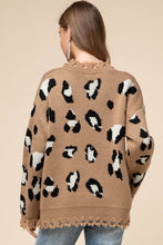 Leopard V-neck Sweater