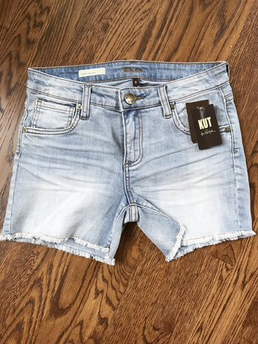 KUT from the Kloth Gidget Frayed Denim Shorts