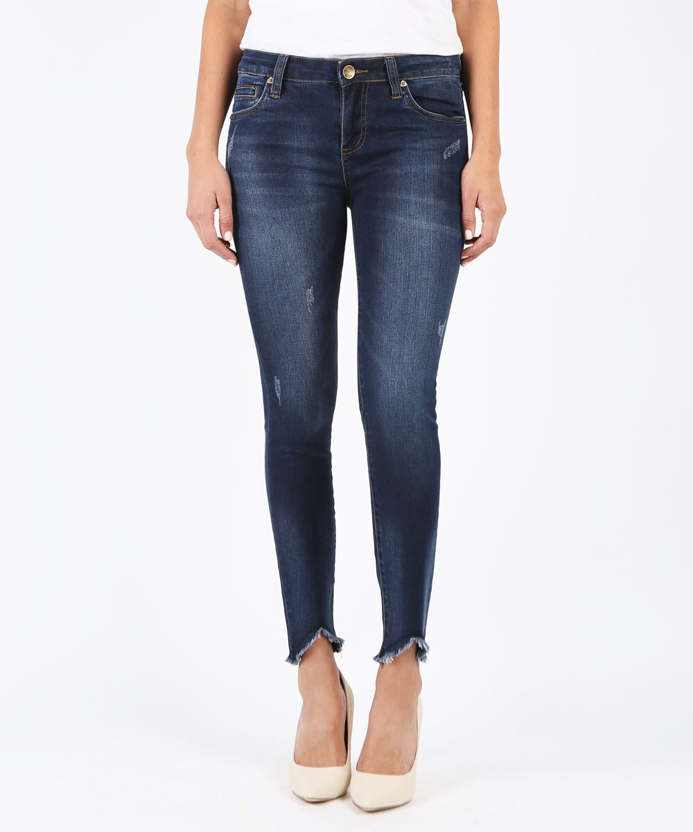 Connie Ankle Skinny Jean with Fray Step Hem
