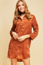 Cinnamon Button Down Shirt Dress