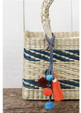 Barbados Striped Straw Tote