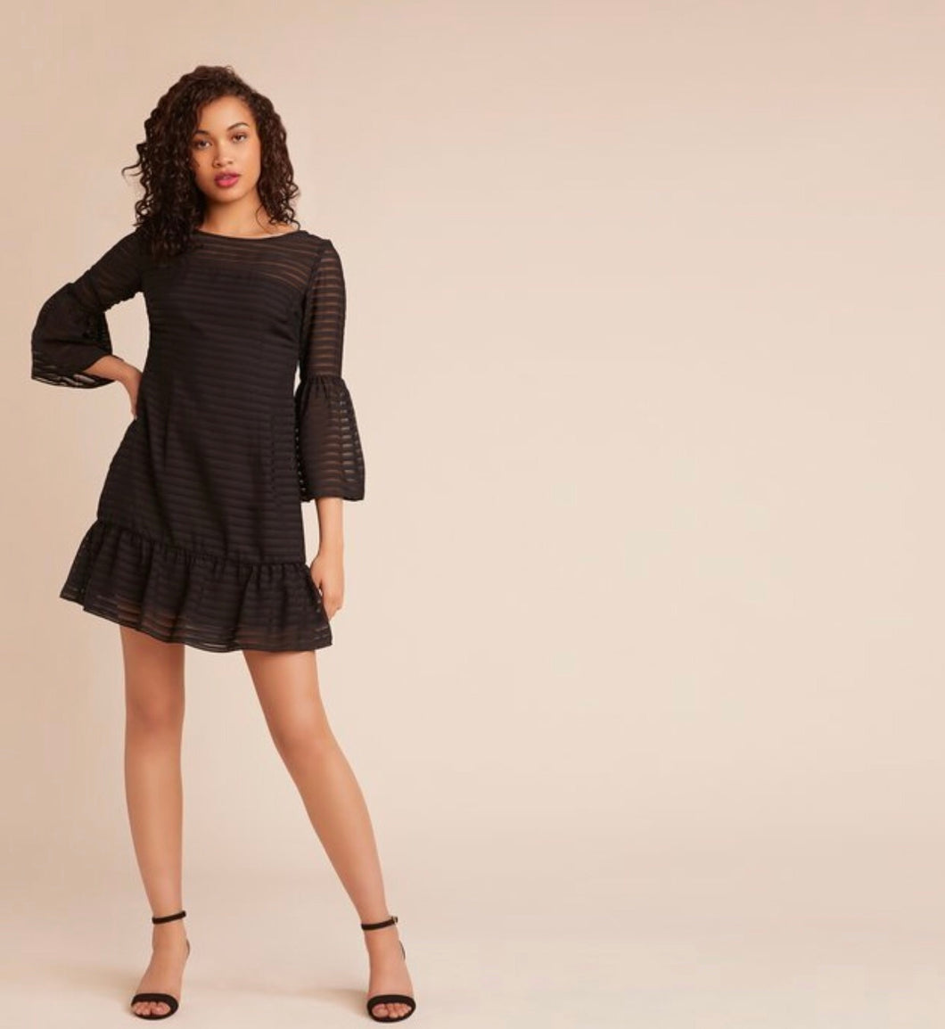 Night Visions Bell Sleeve Dress