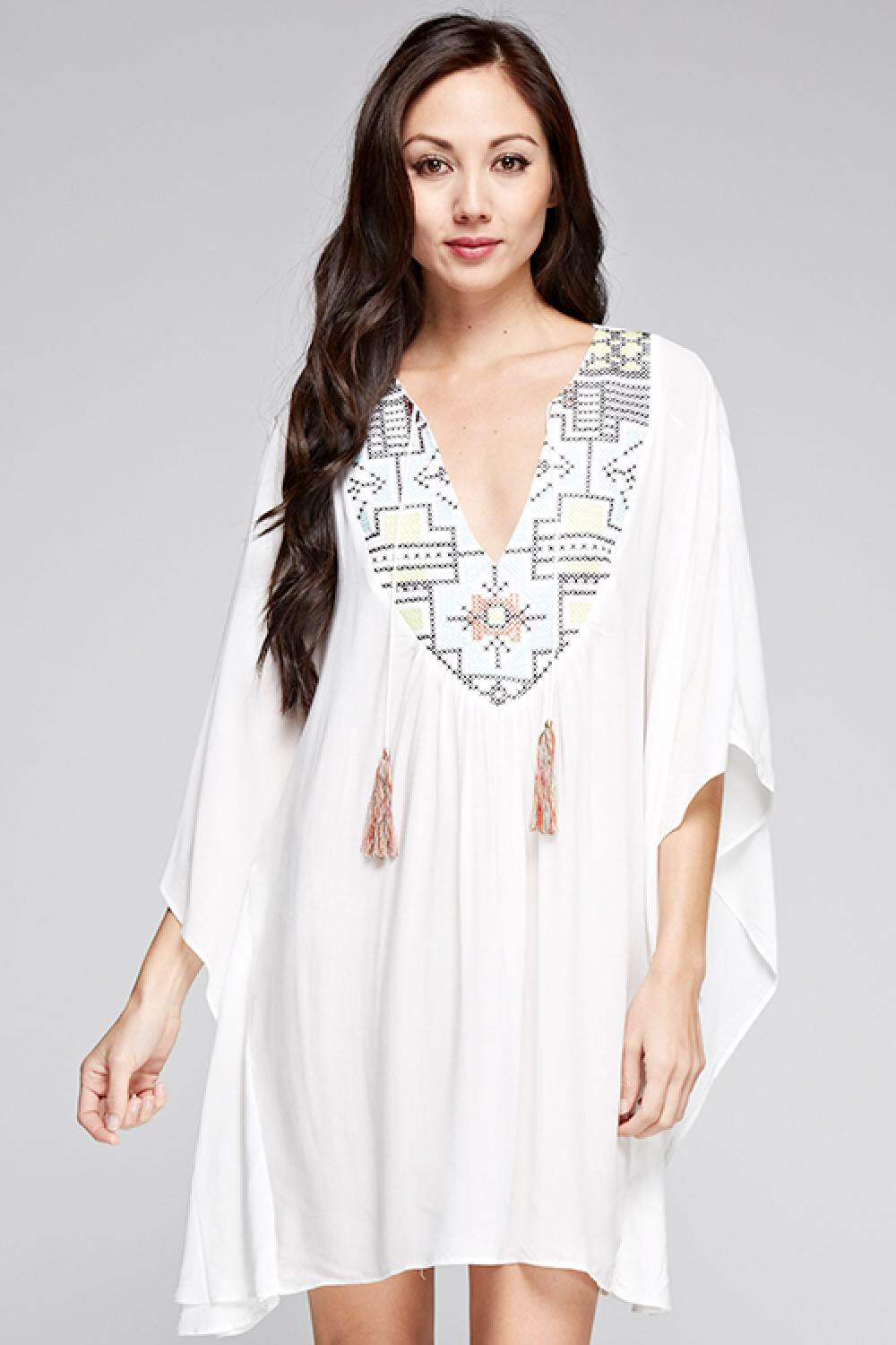 Kendra Embroidered Caftan