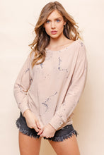 Lucy Loves Dye Print Lounge Top