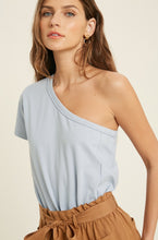 Dylan One Shoulder Top - Blue