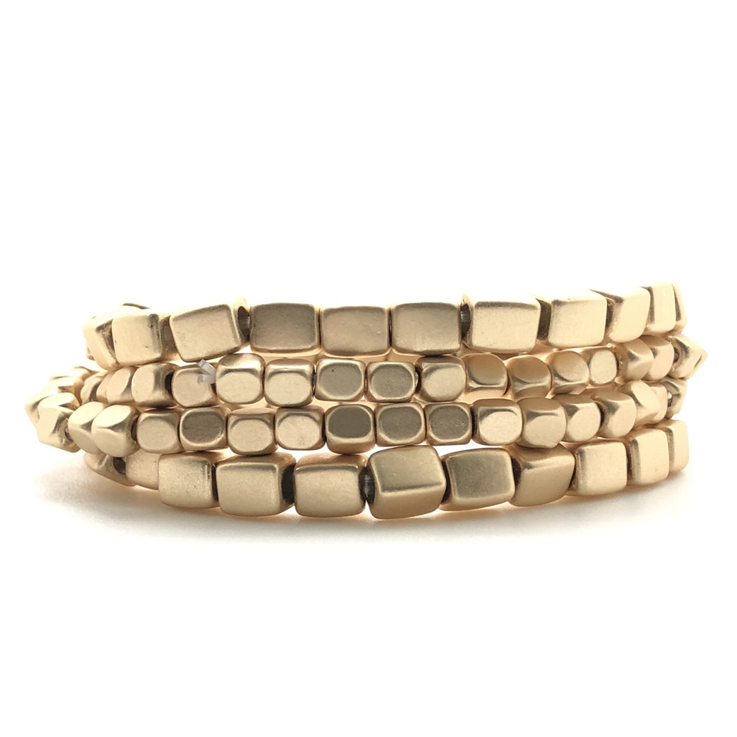 Stackable Gold Bracelet Set