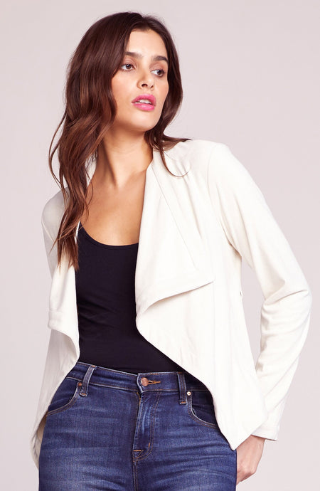In Great Drape Faux Suede Jacket