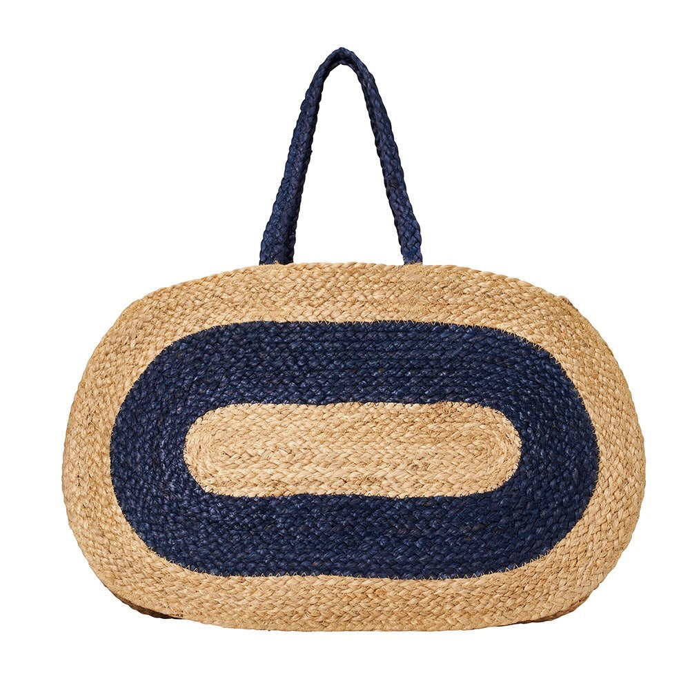 Capri Oval Braided Jute Bag