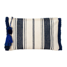 Harbour Clutch with Fringe Navy Stripes