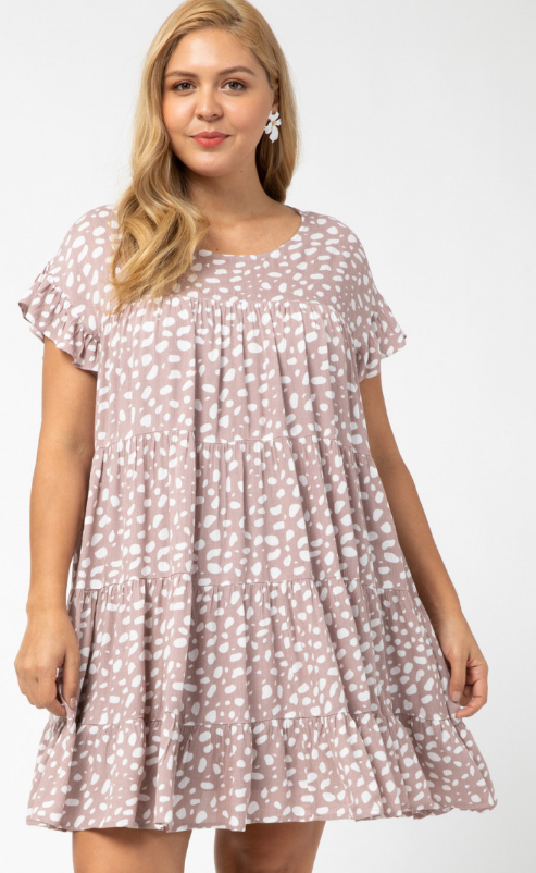 **Pre-order** Pippa Tiered Babydoll Dress - Latte