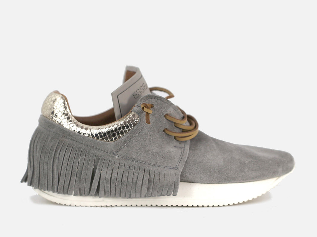 Esseutesse Grey Suede Fringe