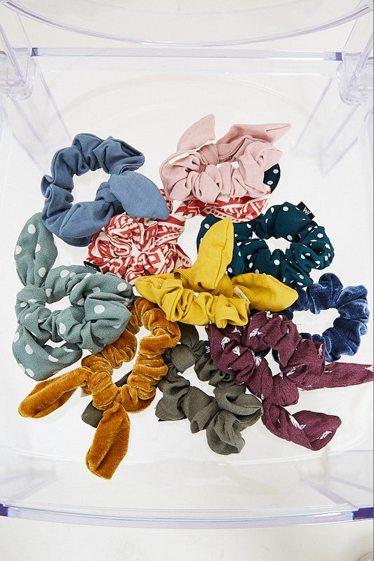 Solid Color Hair Knotted Scrunchie