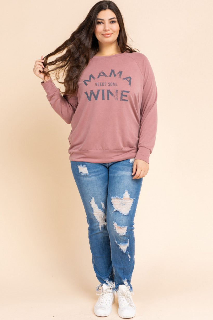 Mamma Needs Wine Sweatshirt