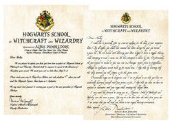Personalized Harry Potter Acceptance Letter with Apology for late delivery Hogwarts School of Witchcraft and Wizardry