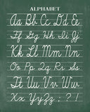 Vintage Cursive Alphabet Classroom Chalkboard Print - Back to School, Teacher Appreciation Gift