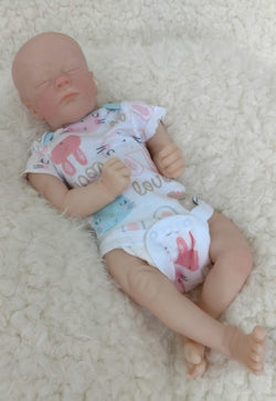 "Realborn Ashley Asleep - Custom Made to Order 17"" reborn baby"