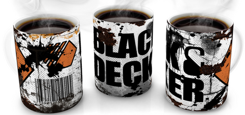 Black & Decker Vintage Distressed Retro Cool Mug
