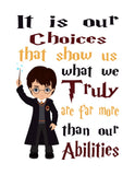 Harry Potter Inspirational Quotes Set of 4 Nursery Decor Prints