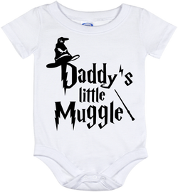 Cute Harry Potter Daddy's Muggle Onesie - all sizes from (New born - 24 months)
