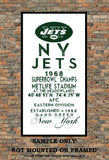 New York Jets- Eye Chart chalkboard print - sports, football, gift for fathers day, subway sign - Eyechart wall art