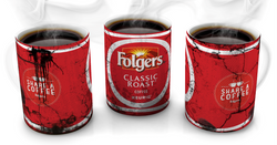 Folgers Vintage Distressed Retro Cool Mug