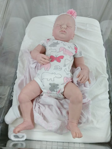 "Gemma by Donna RuBert 19"" Bald Sleeping Reborn with 3/4 Arms and Full Legs - Ready to Ship"