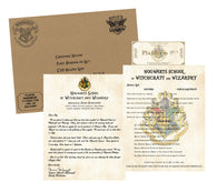 Personalized Harry Potter Acceptance Letter with Envelope from Hogwarts School of Witchcraft and Wizardry