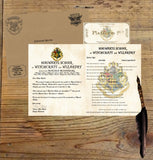 Personalized Harry Potter Acceptance Letter with Envelope from Hogwarts School of Witchcraft and Wizardry - Headmistress Minerva McGonagall