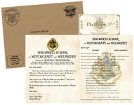 Personalized Harry Potter Acceptance Letter - with Envelope, Supply List and Train Ticket - Hogwarts School of Witchcraft and Wizardry - Headmistress Minerva McGonagall