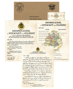 Personalized Harry Potter Acceptance Letter with Apology from Hogwarts School of Witchcraft and Wizardry - Headmistress McGonagall